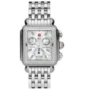 Michele Deco MWW06P000099 33mm  Silver Steel Bracelet & Case  Synthetic Sapphire Women's Watch