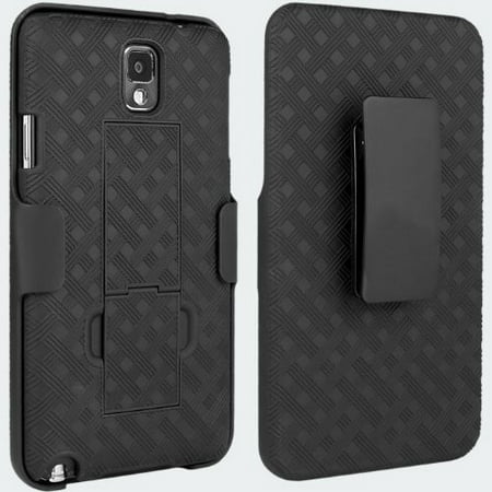 Galaxy Note 3 Case, Rugged Slim Rotating Swivel Clip Holster Shell Combo Case for Samsung Galaxy Note 3 -