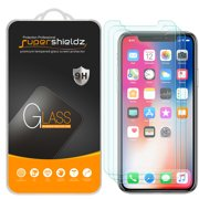 [3-Pack] Supershieldz Apple iPhone X Tempered Glass Screen Protector, Anti-Scratch, Anti-Fingerprint, Bubble Free
