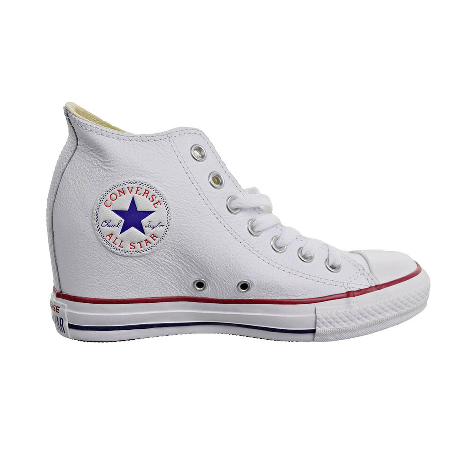 Converse Chuck Taylor Lux Wedge Mid Women's Shoes White/Red/Blue 547200f