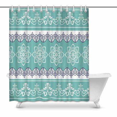 YUSDECOR Bohemian Stripes Bathroom Shower Curtain 60x72 inch - image 1 de 1