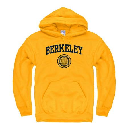 - UC Berkeley Arch & Seal Men's Hoodie Sweatshirt-Gold