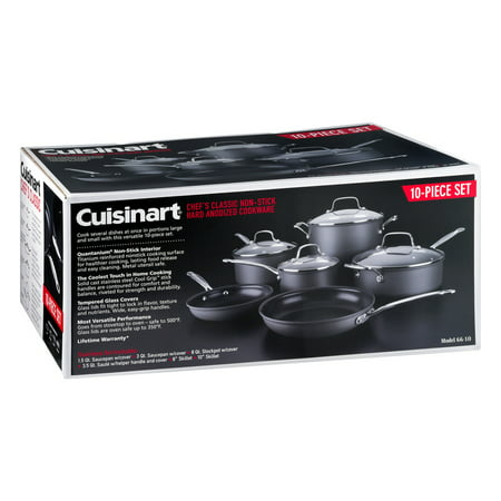 Cuisinart Chef's Classic Non-stick Hard Anodized 10 Piece Cookware Set