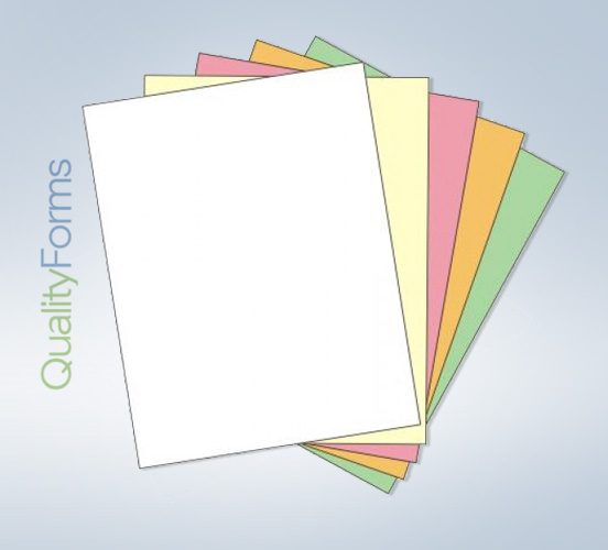 "8-1/2 x 11"" Laser  Carbonless 5 Part Paper  - Ream - Straight"