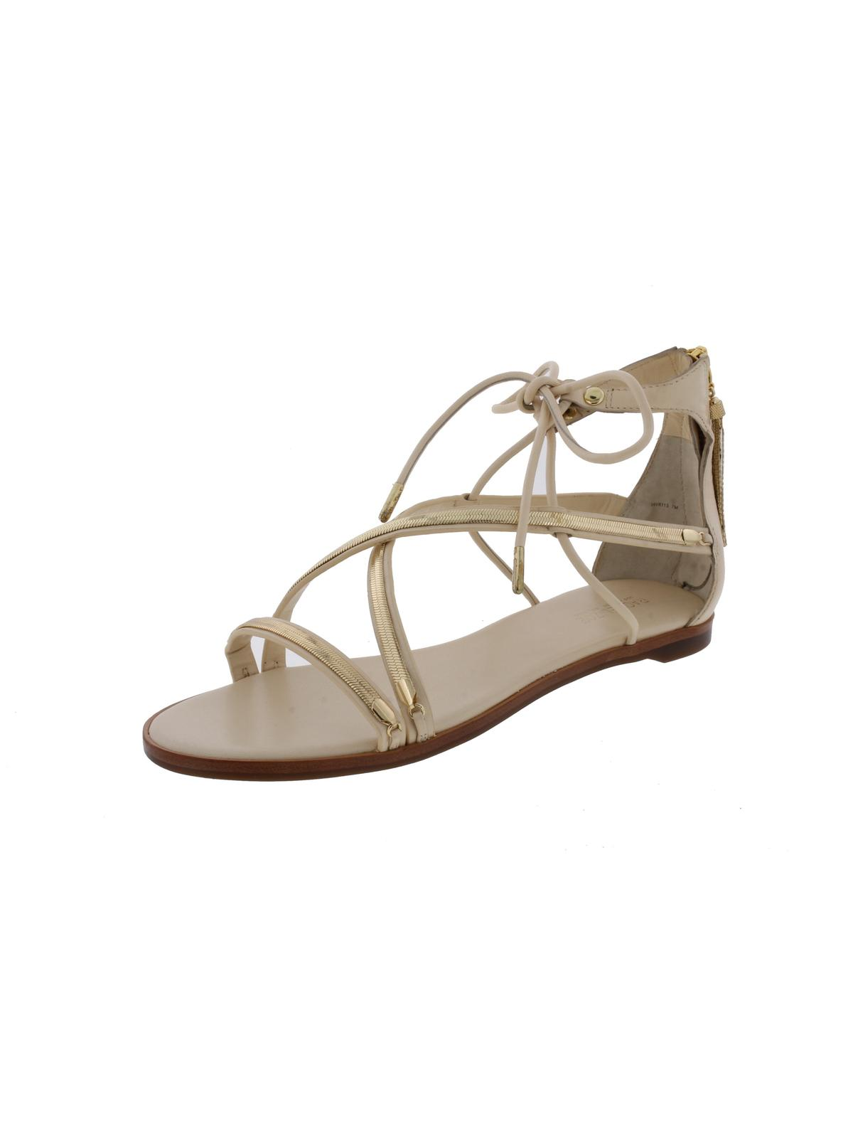 Rachel Zoe Womens Babette Embellished Open Toe Flat Sandals