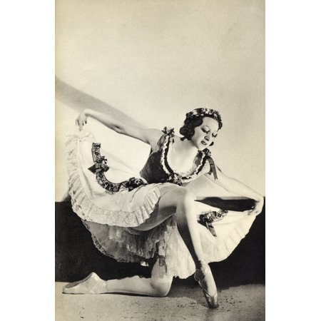 Aleksandra Dionisyevna Danilova 1903 1997 Russian Born Prima Ballerina Assoluta From The Book Footnotes To The Ballet Published 1938 PosterPrint - Prima Ballet