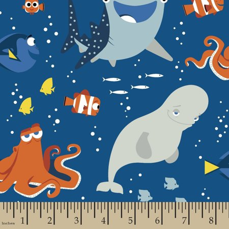 Disney Finding Dory Dory and Friends Uni 43/44 Fabric by the Yard