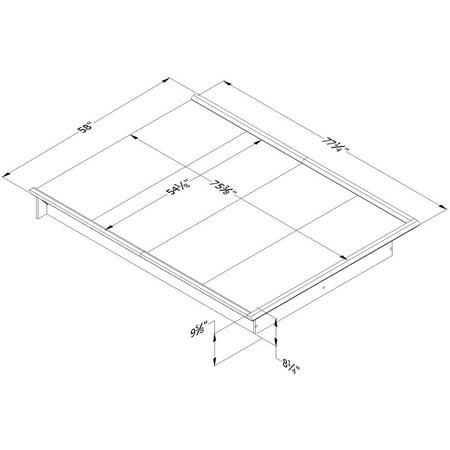 South Shore Basics Full Platform Bed With Molding Instructions