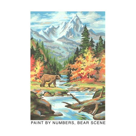 Paint by Numbers, Bear Scene Print Wall Art By Found Image Press