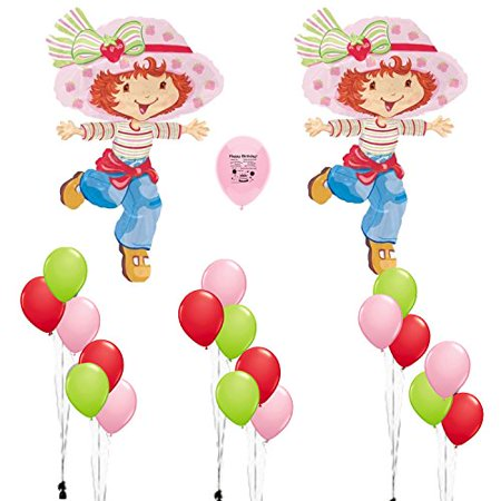Strawberry Shortcake Party Supplies Birthday Party Balloons Decoration Kit