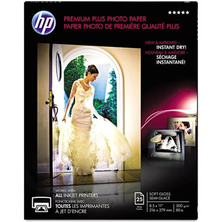 HP Premium Plus Soft-gloss Photo Paper-25 Sheets | Letter | 8.5 x 11 in | CR671A