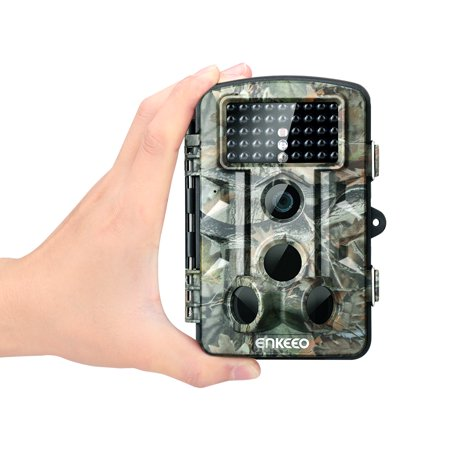 Trail Camera, Enkeeo PH730S 1080P HD Game & Trail Camera 12M Wildlife Hunting Trail Cam Long Range Infrared Night Vision with Time Lapse & 2.4