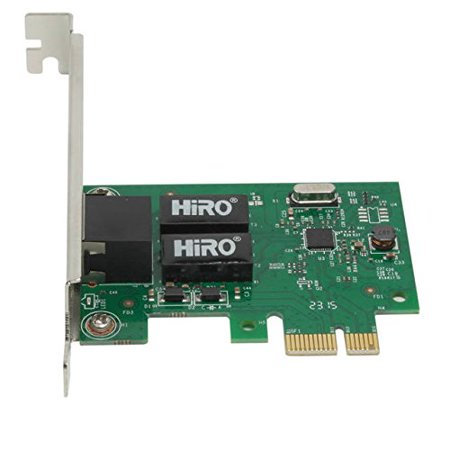 Lumiere LA 176493 Hiro Network H50303 10/100/1000 Pci Express Gigabit Ethernet Card Windows 10/8.1/8 Retail