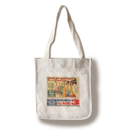 Cotton Womens Bag (Ringling Bros & Barnum & Bailey - Giraffe - Neck Women Vintage Poster USA c. 1933 (100% Cotton Tote Bag -)