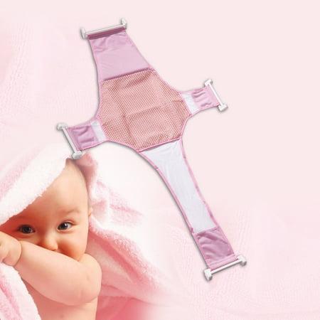 Cross Baby Bath Mesh Bathtub Seat Net Support Sling Infant Bath Tub ...