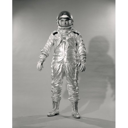 1960s Standing Full Length Portrait Of Astronaut In Space Suit And Helmet Poster Print By Vintage Collection