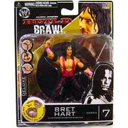 "WWE Wrestling Build N' Brawl Series 7 Bret Hart 4"" Action Figure"