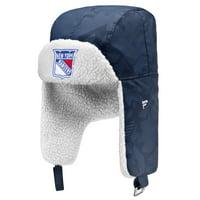 New York Rangers Fanatics Branded Iconic Trapper Hat - Navy/White - OSFA