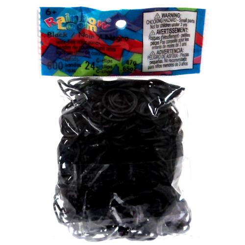 Rainbow Loom Black Rubber Bands Refill Pack RL13 [600 ct]