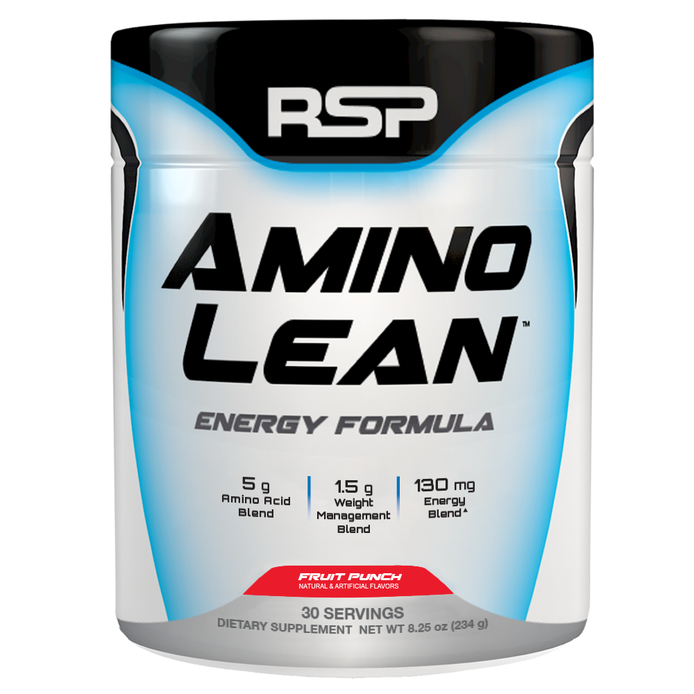 RSP Nutrition AminoLean Pre Workout, Fat Burner, Amino Energy, Fruit Punch, 30s