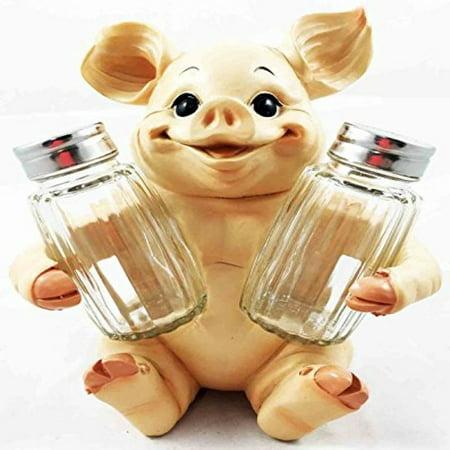 Animal Farm Cute Babe Pig Porcine Spice Figurine Salt Pepper Shakers Holder Kitchen Decor Centerpiece Farmers Animal Lovers - Farm Animal Figurines