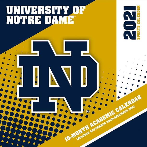 Notre Dame Academic Calendar 2021 Notre Dame Fighting Irish 2021 12x12 Team Wall Calendar (Other