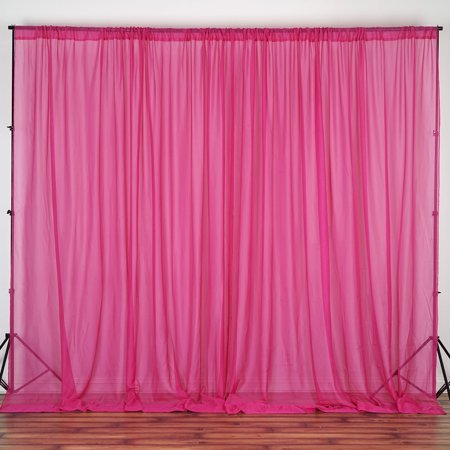 BalsaCircle 10 feet x 10 feet Sheer Voile Backdrop Drapes Curtains - Wedding Ceremony Party Home - Backdrop Curtains