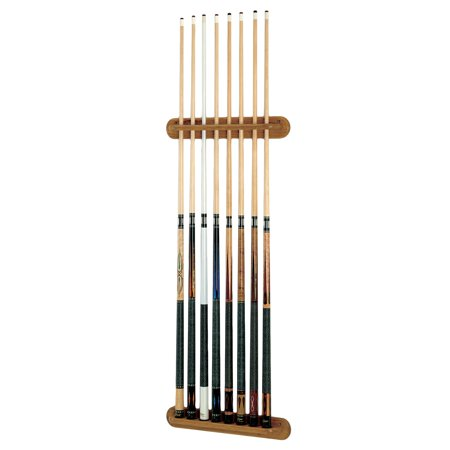 Viper Traditional Oak 8 Cue Wall Cue Rack (Viper Traditional Mahogany 8 Cue Wall Cue Rack)