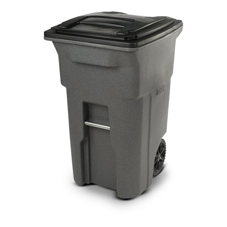 Toter 64 Gallon Trash Can Graystone with Wheels and