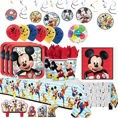Mickey on the Go Party Pack (Mega) For 16 Guests