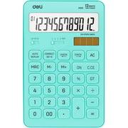 Calculator, Desktop Basic Calculators with 12 Digit Large LCD Display, Solar Battery Dual Power, Blue