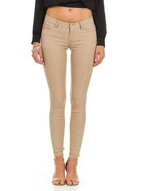 Cover Girl Women's Mid Rise Jeans Skinny Plus Juniors Ankle Plus Size 22W Ebony Black