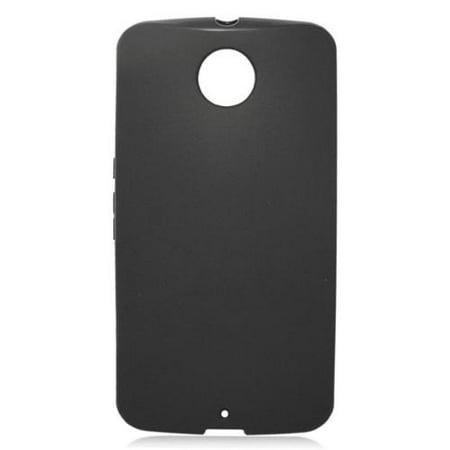 the latest f274b 53fd6 Insten Rubber Gel Skin Cover Case For Motorola Google Nexus 6 - Black