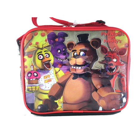 Five Nights At Freddys Lunch Bag Fnaf Snack Bag Bonnie Chica Foxie  Back Checker