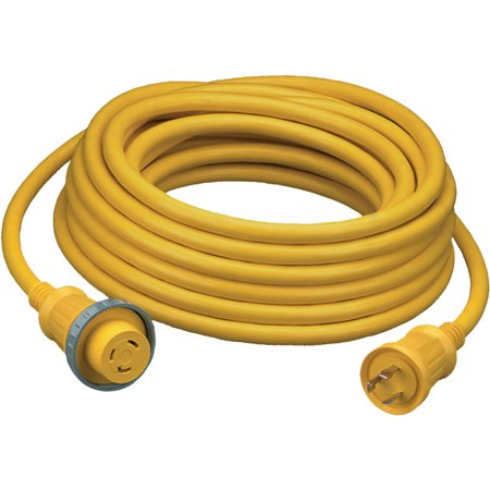 Hubbell 30A 125V 25' Vinyl Jacketed Pre Wired Shore Power Cable -