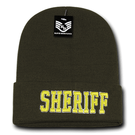 ... Beanie  best 8c490 320e4 Rapid Dominance Sheriff (Olive Color) - US Law  Enforcement Long Cuffed ... bac3ea5bf4b2