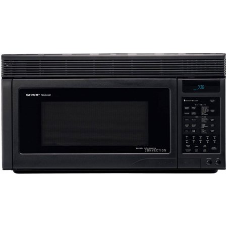 Sharp R1875t 1 Cu Ft 850w Over The Range Convection Microwave Black