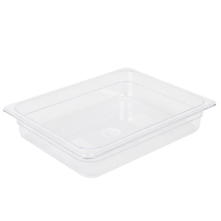 Polycarbonate Solid Food Pan Covers - Thunder Group HALF SIZE 2 1/2