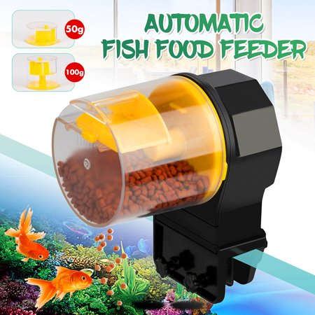 Automatic Aquarium Fish Feeder Timing Food Feeding w/50g+100g Food Boxs Feeding Frozen Fish Food