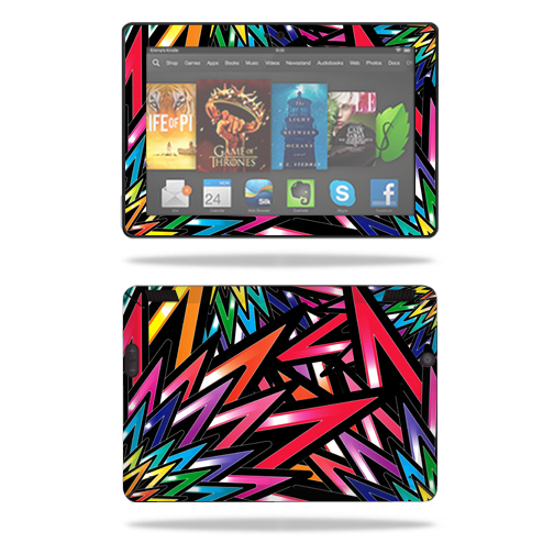 "Mightyskins Protective Skin Decal Cover for Amazon Kindle Fire HDX 7"" Tablet (2013) wrap sticker skins Color Bomb"