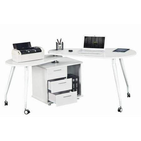 Strange Techni Mobili Rotating Computer Desk With Storage White Box 1 Of 2 Interior Design Ideas Clesiryabchikinfo