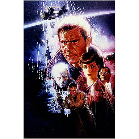 Blade Runner Vintage Movie Poster Collage Harrison Ford Sean Young 24X36 (Reproduction, Not An Original)