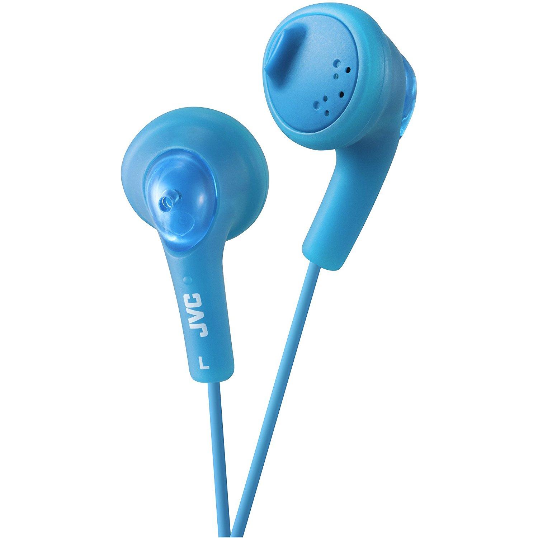 HAF160A Gumy Ear Bud Headphone Blue, NRG Powder HAF160 Ohm Gumy Wired 15 16 Mic Earphone Sound Box iPod Stereo Deep Headphones Miniphone Earbud Hz Storage.., By JVC