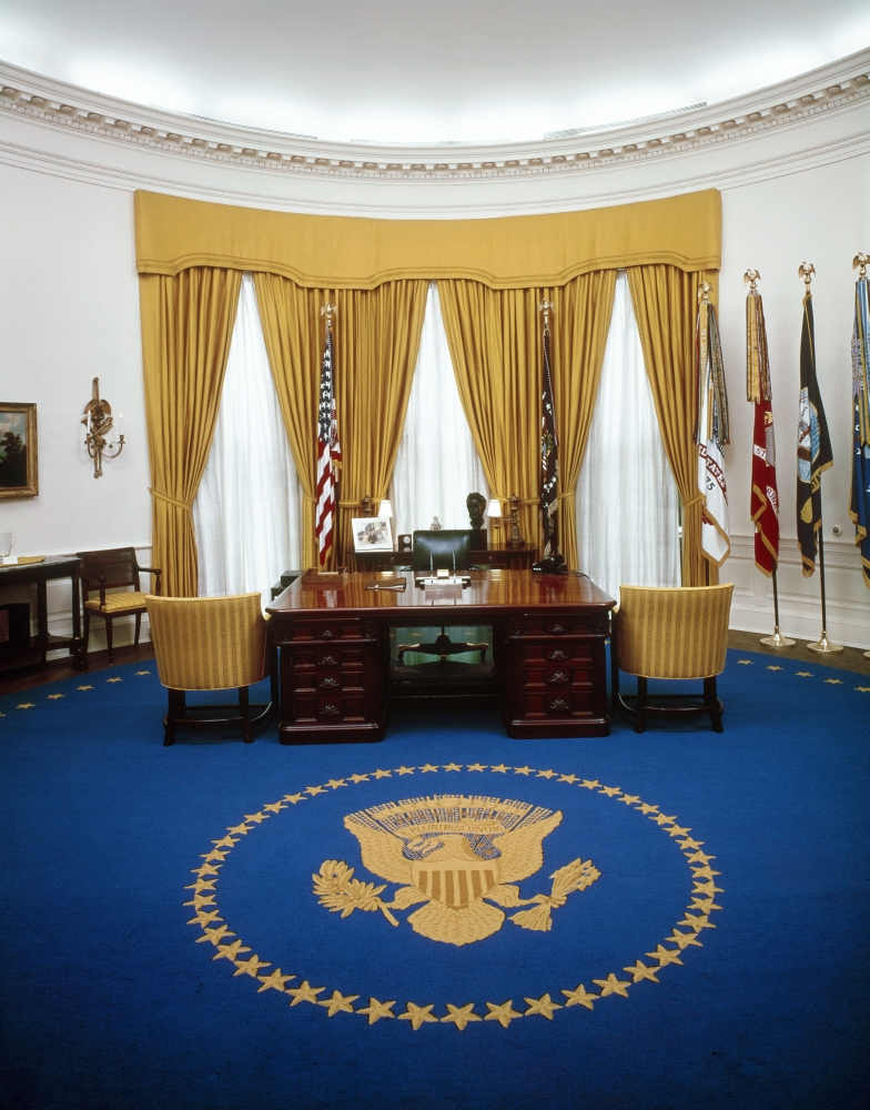 white house oval office. Perfect White White House Oval Office Npresident Richard NixonS Desk In The  At Intended