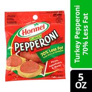 Hormel 70% Less Fat Turkey Pepperoni, 5 Oz.