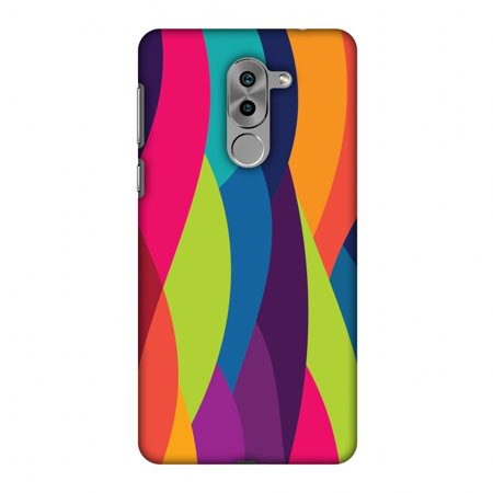 detailed look 4ae8e 3563d Huawei Honor 6X 2016 Case, Huawei GR5 2017 Case - Bold Waves,Hard Plastic  Back Cover, Slim Profile Cute Printed Designer Snap on Case with Screen ...