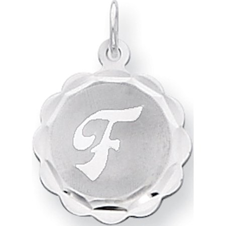 925 Sterling Silver Brocaded Initial F (16x22mm) Pendant / Charm - image 1 de 1