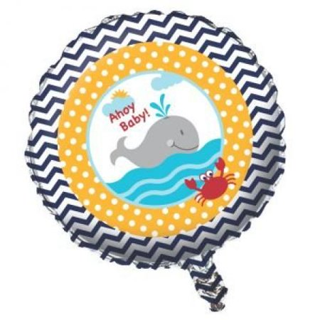 Ahoy Matey Baby Shower Foil Balloon (Ahoy Baby Shower Decorations)