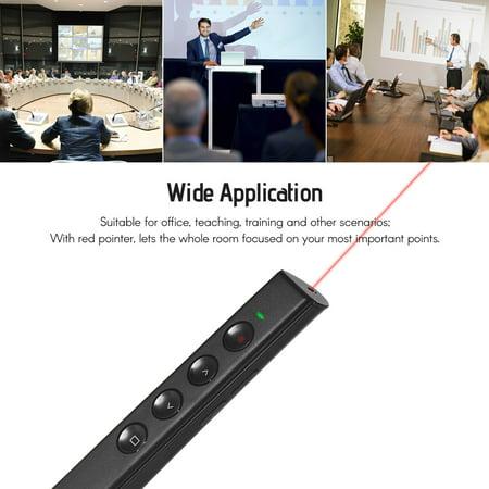 Présentateur numérique Rechargeable PowerPoint PPT Clicker Stylo à bille Présentation professionnelle 2.4GHz Télécommande sans fil Stylo à bille Pointeur Red Light avec récepteur USB Prise en charge d - image 3 of 7