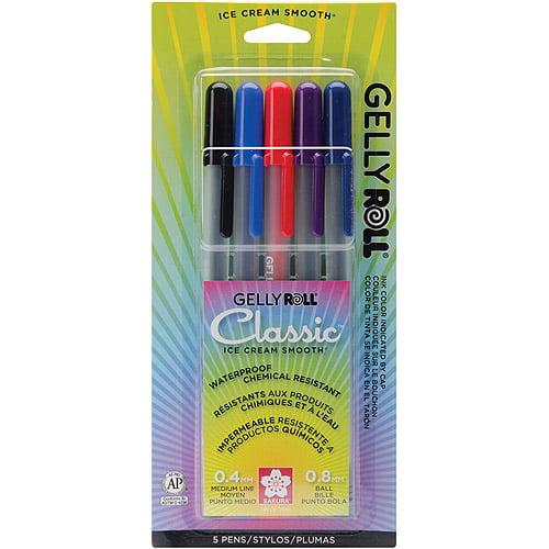 Sakura Gelly Roll Gel Pen Set, 5/pkg